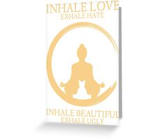 Inhale exhale Yoga With Cat Greeting Card