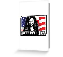 made in the usa Greeting Card
