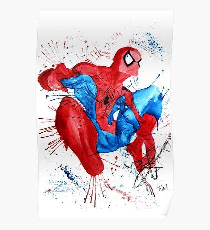 Spider-Man Watercolor Splash Poster