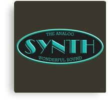 Analog Synth Oval Canvas Print