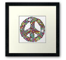 Colourful Peace Sign Framed Print