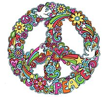 Colourful Peace Sign Photographic Print