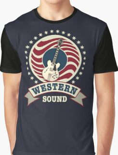 Cool Western Sound Graphic T-Shirt