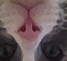 Crazy Gracie Upside Down Kitty Sticker