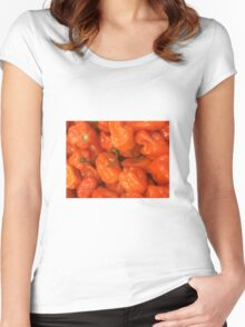 Orange peppers Women's Fitted Scoop T-Shirt
