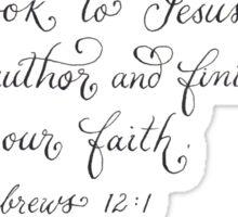 Inspirational verse to follow Jesus Sticker