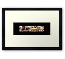 Blowing his horn Framed Print