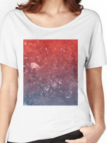 red marble white Women's Relaxed Fit T-Shirt