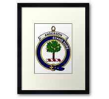 Anderson Clan Badge Framed Print