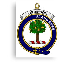 Anderson Clan Badge Canvas Print