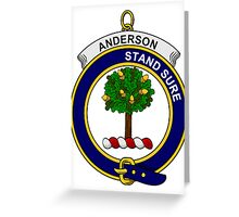 Anderson Clan Badge Greeting Card