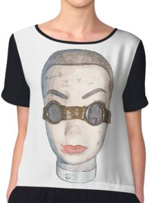head with goggles  Chiffon Top