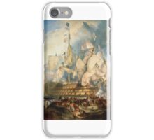 The Battle of Trafalgar by J. M. W. Turner (oil on canvas, ) iPhone Case/Skin