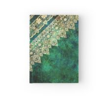 Lace fabric pattern with flowers and lace grunge vintage style background Hardcover Journal