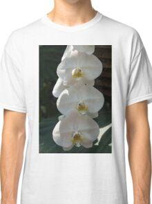White Orchid Trio - Exotic Elegance Times Three Classic T-Shirt