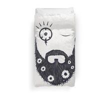 Make Beards Not War! Duvet Cover