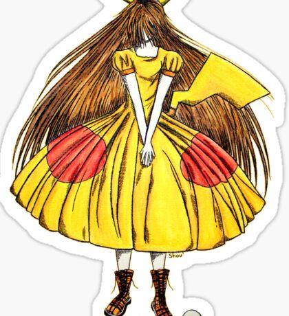Lady Pikachu Sticker