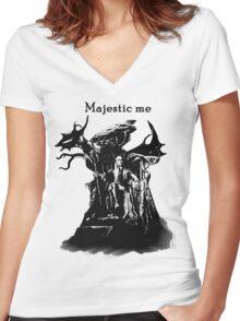 Majestic Thranduil Women's Fitted V-Neck T-Shirt