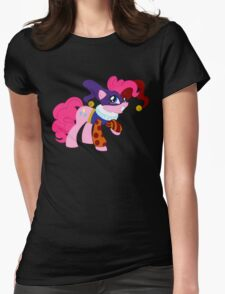 Pinkie Pie cosplaying Quackerjack Womens Fitted T-Shirt
