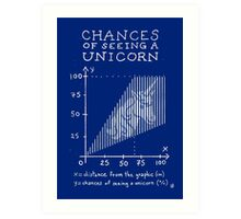 Chances of Seeing a Unicorn Art Print