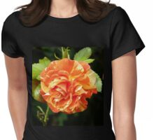 Multi Colored rose Womens Fitted T-Shirt