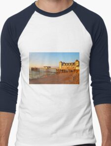 Golden Hour Penarth Pier Men's Baseball ¾ T-Shirt