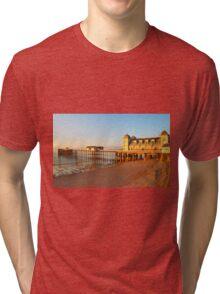 Golden Hour Penarth Pier Tri-blend T-Shirt