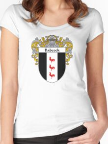 Babcock Coat of Arms/Family Crest Women's Fitted Scoop T-Shirt