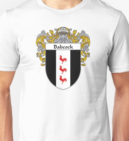 Babcock Coat of Arms/Family Crest Unisex T-Shirt