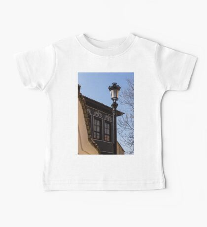 Perfectly Aligned - Intricate Ironwork Streetlight and Classic Revival House Baby Tee