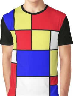 Abstract #412 Mondriaan #9 Graphic T-Shirt