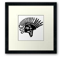 Punk Rock Climb Mohawk Framed Print