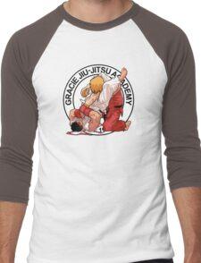 RYU VS KEN - GRACIE JIU-JITSU STYLE Men's Baseball ¾ T-Shirt