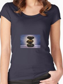 Zen stones  Women's Fitted Scoop T-Shirt