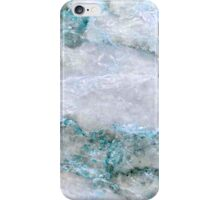 blue white marble abstract iPhone Case/Skin