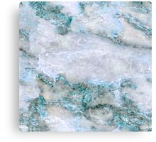 blue white marble abstract Canvas Print