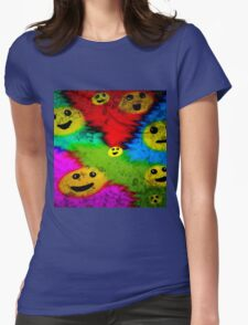 RETRO SMILES   Womens Fitted T-Shirt