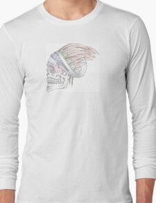 Native Indian Skull Long Sleeve T-Shirt
