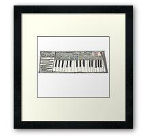 Retro Casio Keyboard Framed Print