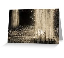 Silver Fountains Dancing in the Sun Greeting Card