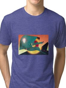 Psychedelic Liftoff Tri-blend T-Shirt