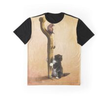 The Cat, the Bird and the Mouse Graphic T-Shirt