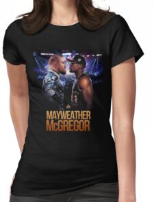 Mayweather v Mcgregor Womens Fitted T-Shirt
