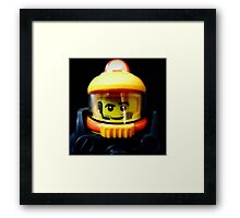 Lego Space Miner minifigure Framed Print