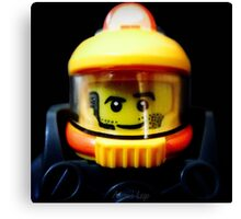 Lego Space Miner minifigure Canvas Print