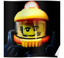 Lego Space Miner minifigure Poster