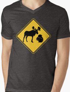 Moose & Squirrel XING Mens V-Neck T-Shirt