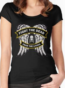 Fight the Dead Fear the Living Women's Fitted Scoop T-Shirt