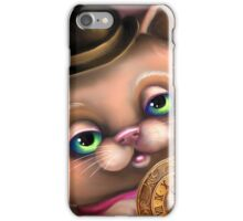 Steampunk Cat in a Bowler Hat - Goth Kitty iPhone Case/Skin