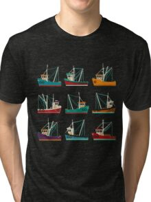 Fishing Trawlers Tri-blend T-Shirt